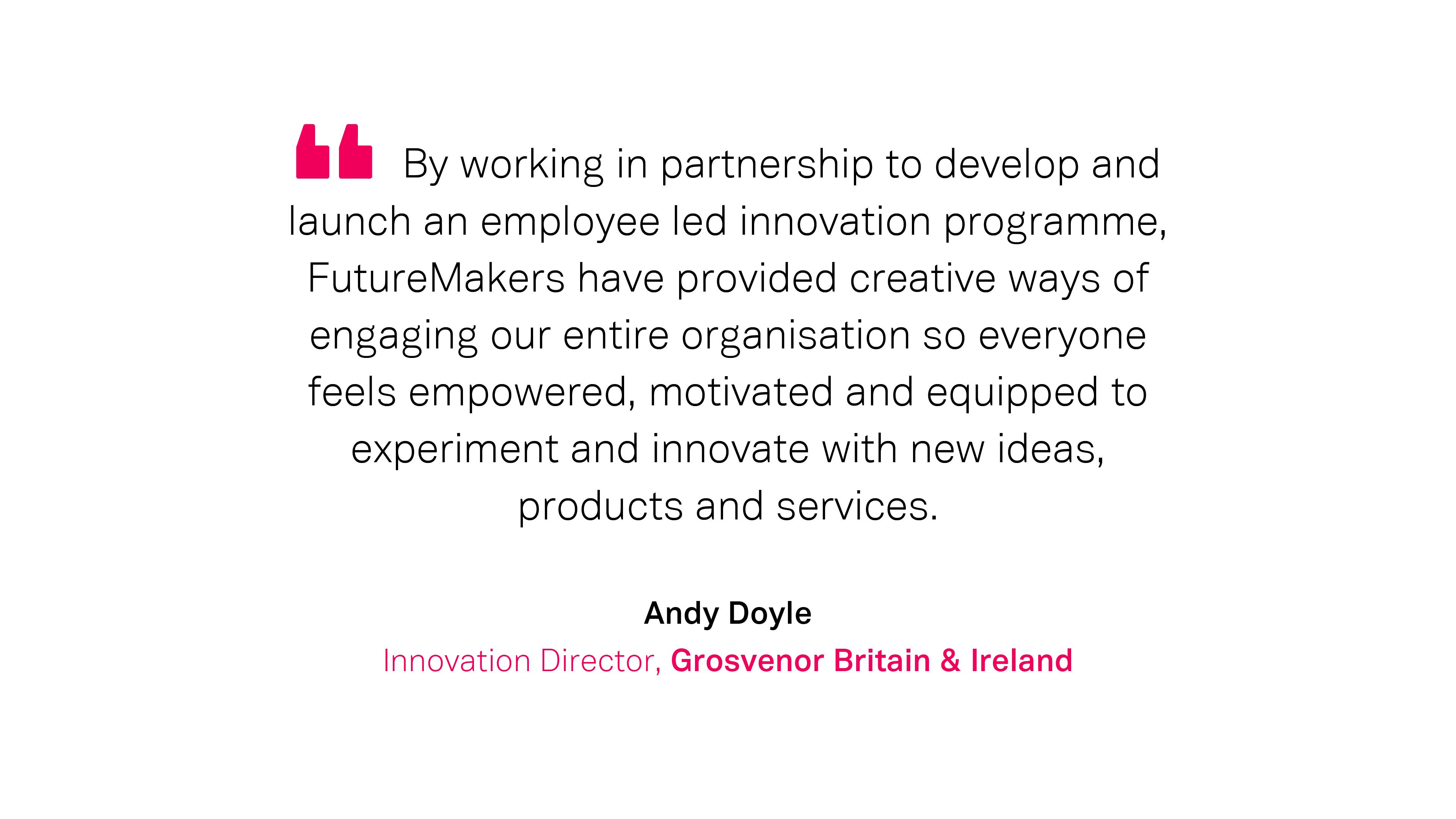 Our Work: Andy Doyle, Grosvenor