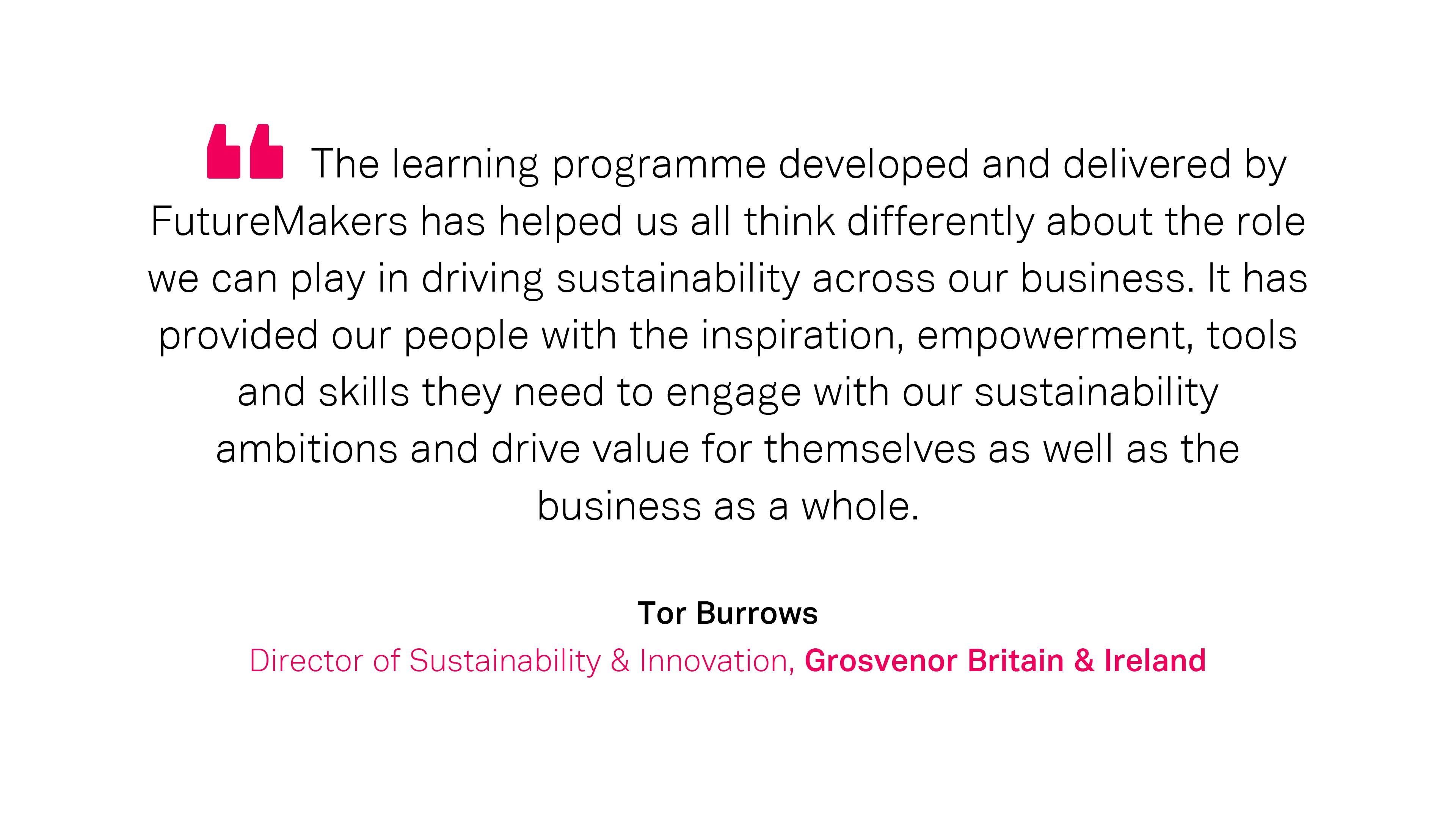 Our Work: Tor Burrows, Grosvenor